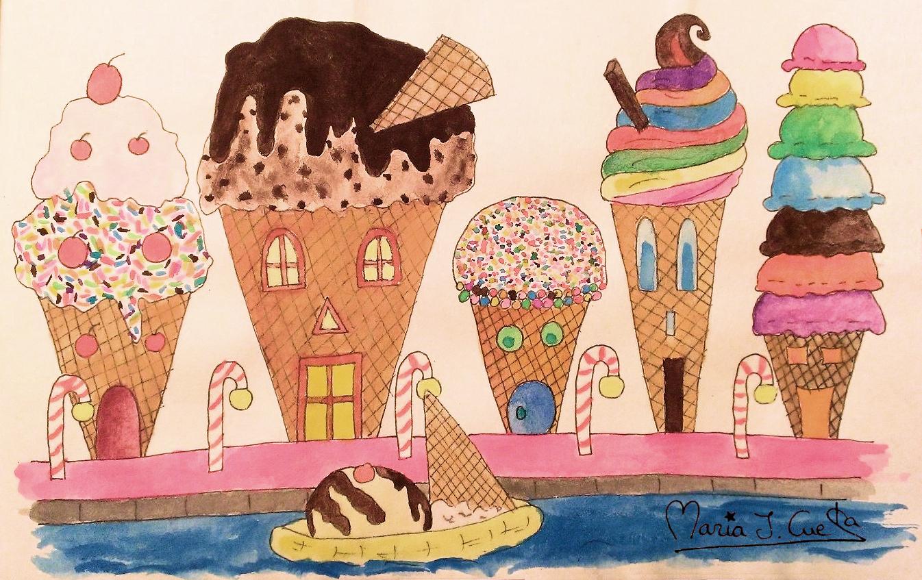Ice Cream Street MariaJCuesta. Children's Books. Art. Illustration.