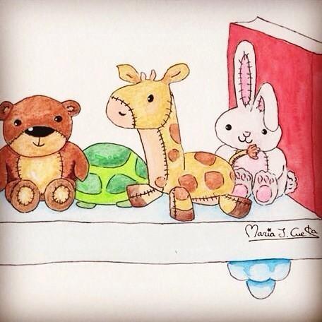 Animals Toys MariaJCuesta. Children's Books. Art. Illustration.