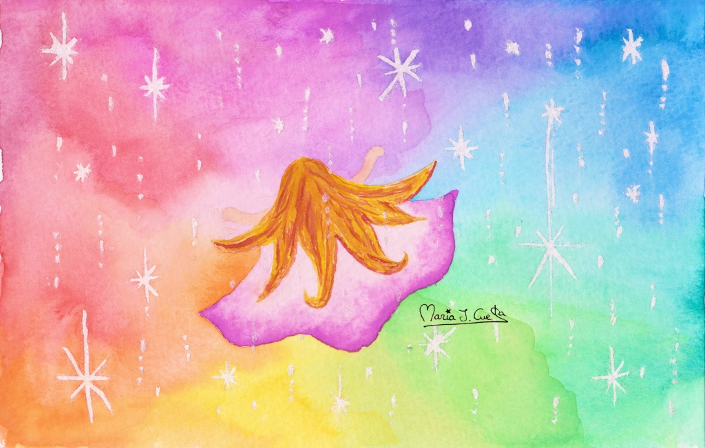 Colorful Glitter MariaJCuesta. Children's Books. Art. Illustration.