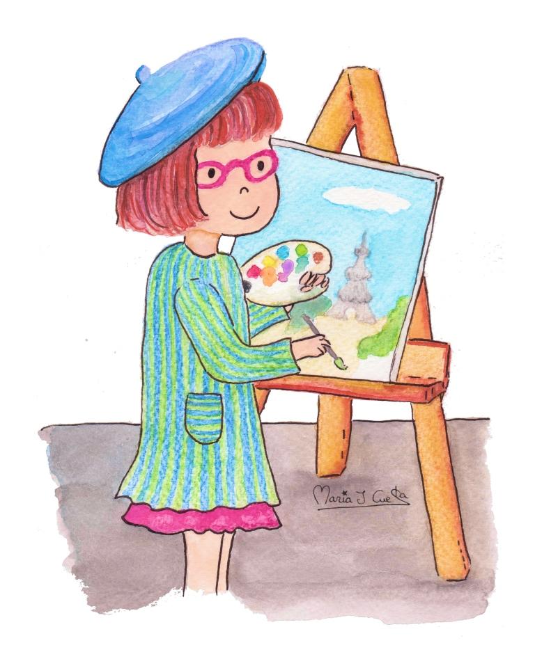 Little Painter MariaJCuesta. Children's Books. Art. Illustration.