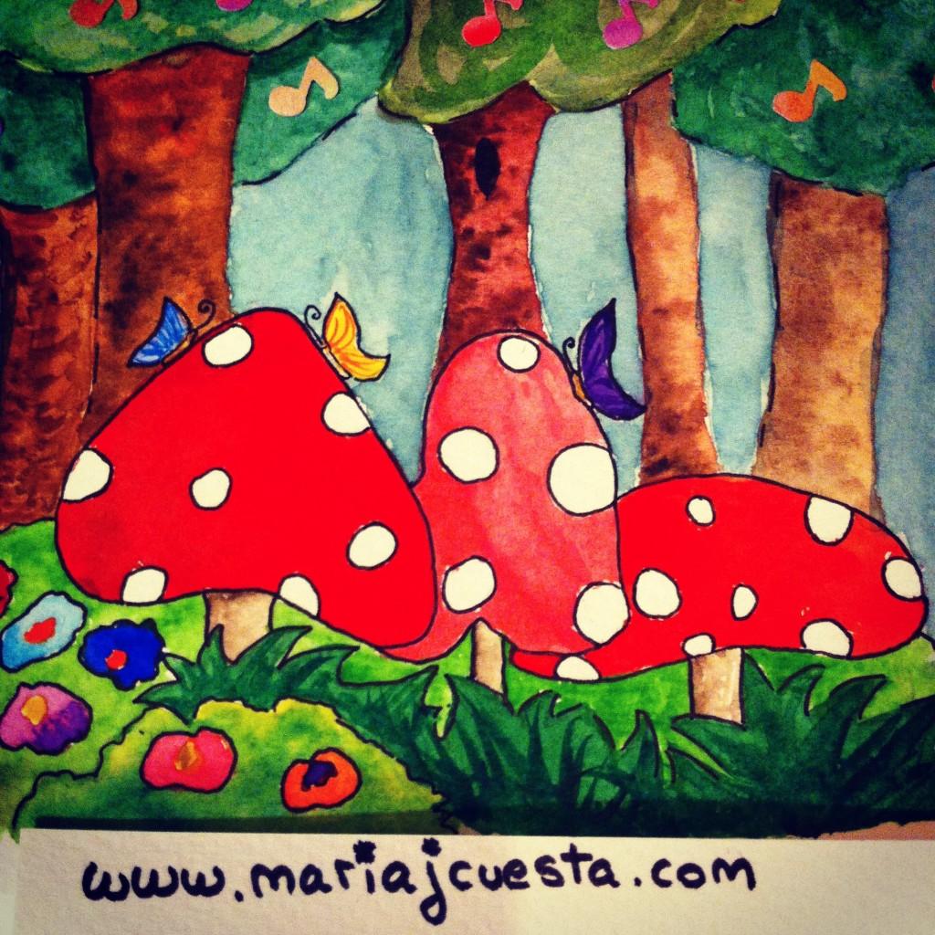 Magic Forest Forest MariaJCuesta. Children's Books. Art. Illustration.