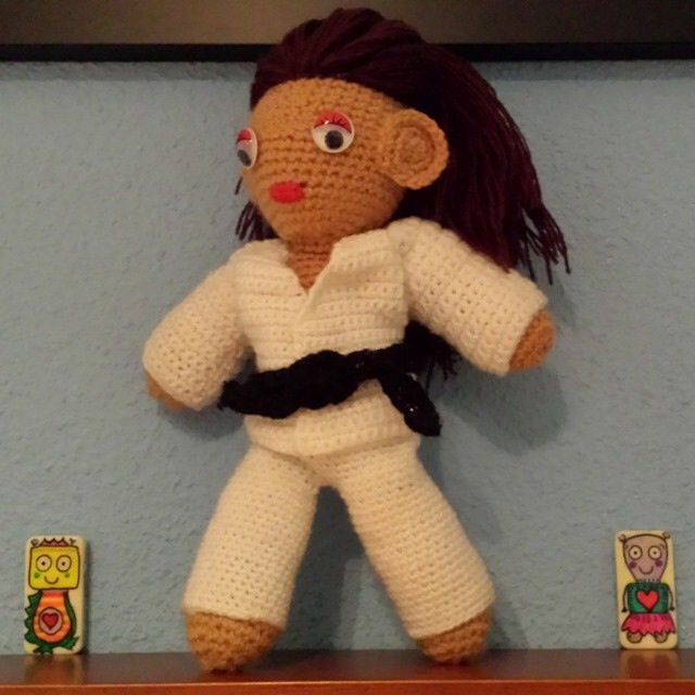 Botjoy MariaJCuesta Robot Courage Joy Hope Strength Luck Sports Martial Arts Crochet