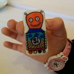 Botjoy MariaJCuesta Robot Courage Joy Hope Strength Luck activation small hand