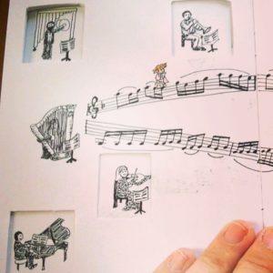 Orchestra Ladders MariaJCuesta sketchbookproject